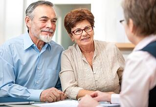 couple getting bankruptcy advice