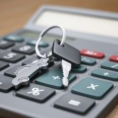 car keys and calculator