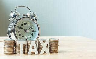 taxes and clock