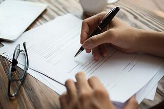 person surrendering property by signing papers