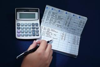 check register and calculator