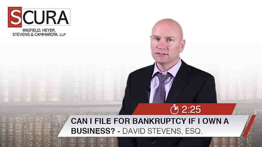 Thumbnail Image for Can I file Bankruptcy if I own a Business-David Stevens-min1