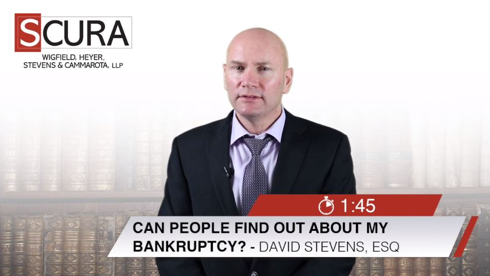 Thumbnail Image for Can People find out aobut my Bankruptcy-David Stevens