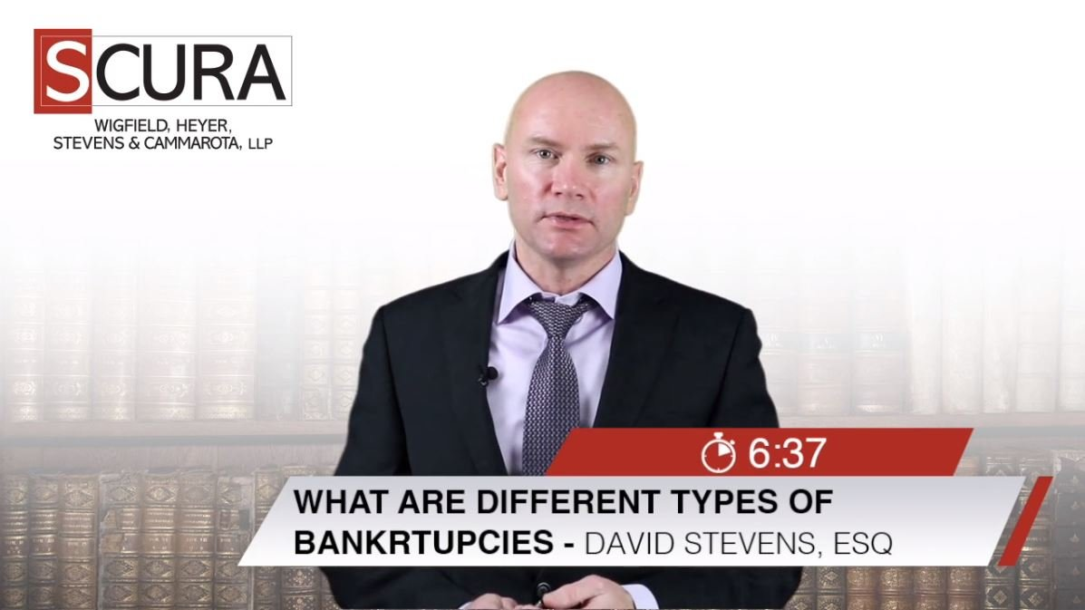 Different Types of Bankruptcy-David Stevens
