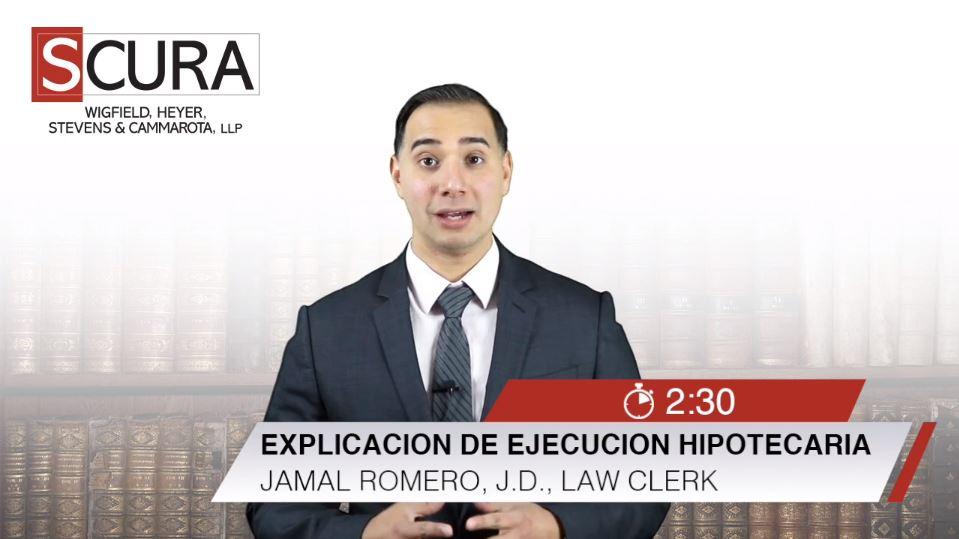 Explicacion de Ejecucion Hipotecaria-Jamal Romero