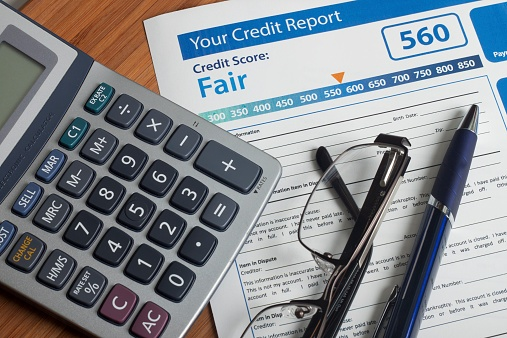 credit report and calculator